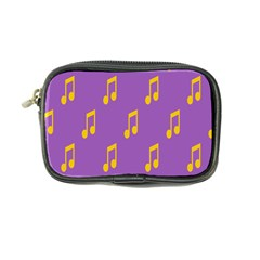 Eighth Note Music Tone Yellow Purple Coin Purse