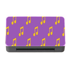 Eighth Note Music Tone Yellow Purple Memory Card Reader with CF