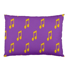 Eighth Note Music Tone Yellow Purple Pillow Case (Two Sides)
