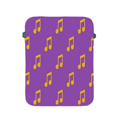 Eighth Note Music Tone Yellow Purple Apple iPad 2/3/4 Protective Soft Cases