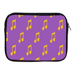 Eighth Note Music Tone Yellow Purple Apple Ipad 2/3/4 Zipper Cases