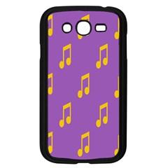 Eighth Note Music Tone Yellow Purple Samsung Galaxy Grand DUOS I9082 Case (Black)
