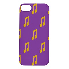 Eighth Note Music Tone Yellow Purple Apple iPhone 5S/ SE Hardshell Case