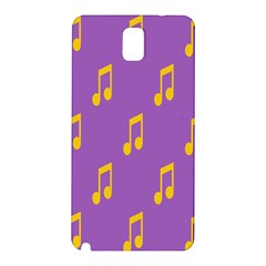 Eighth Note Music Tone Yellow Purple Samsung Galaxy Note 3 N9005 Hardshell Back Case