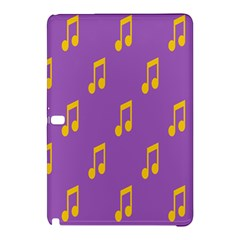 Eighth Note Music Tone Yellow Purple Samsung Galaxy Tab Pro 12.2 Hardshell Case