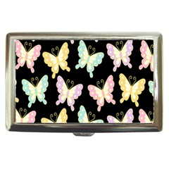 Butterfly Fly Gold Pink Blue Purple Black Cigarette Money Cases