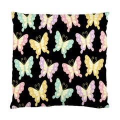 Butterfly Fly Gold Pink Blue Purple Black Standard Cushion Case (One Side)