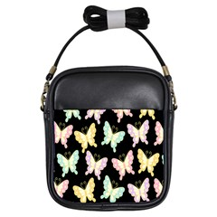 Butterfly Fly Gold Pink Blue Purple Black Girls Sling Bags