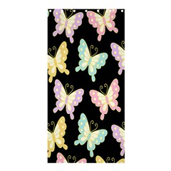 Butterfly Fly Gold Pink Blue Purple Black Shower Curtain 36  x 72  (Stall)