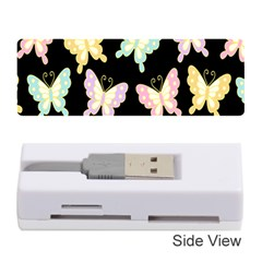 Butterfly Fly Gold Pink Blue Purple Black Memory Card Reader (Stick)