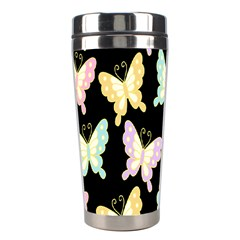 Butterfly Fly Gold Pink Blue Purple Black Stainless Steel Travel Tumblers