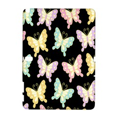 Butterfly Fly Gold Pink Blue Purple Black Galaxy Note 1