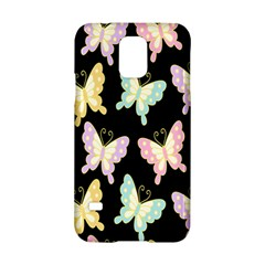 Butterfly Fly Gold Pink Blue Purple Black Samsung Galaxy S5 Hardshell Case