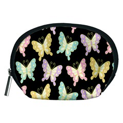 Butterfly Fly Gold Pink Blue Purple Black Accessory Pouches (Medium)