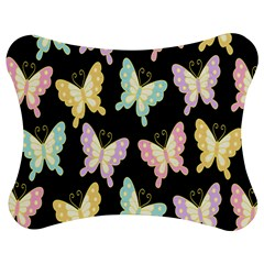 Butterfly Fly Gold Pink Blue Purple Black Jigsaw Puzzle Photo Stand (Bow)