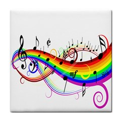 Color Music Notes Tile Coasters