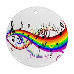 Color Music Notes Ornament (round)