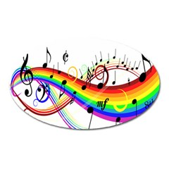 Color Music Notes Oval Magnet