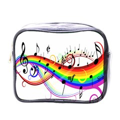 Color Music Notes Mini Toiletries Bags