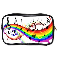 Color Music Notes Toiletries Bags 2-Side