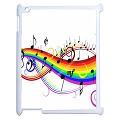 Color Music Notes Apple Ipad 2 Case (white)