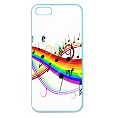 Color Music Notes Apple Seamless Iphone 5 Case (color)