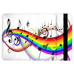 Color Music Notes iPad Air Flip
