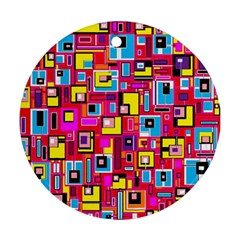 File Digital Disc Red Yellow Rainbow Ornament (round)