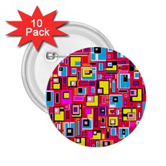 File Digital Disc Red Yellow Rainbow 2.25  Buttons (10 pack)