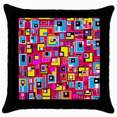 File Digital Disc Red Yellow Rainbow Throw Pillow Case (Black)