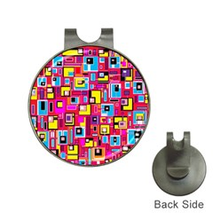 File Digital Disc Red Yellow Rainbow Hat Clips with Golf Markers