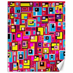 File Digital Disc Red Yellow Rainbow Canvas 16  x 20