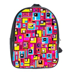 File Digital Disc Red Yellow Rainbow School Bags(Large)