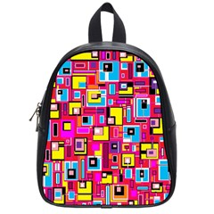 File Digital Disc Red Yellow Rainbow School Bags (Small)