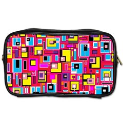 File Digital Disc Red Yellow Rainbow Toiletries Bags 2-Side