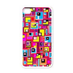 File Digital Disc Red Yellow Rainbow Apple iPhone 4 Case (White)