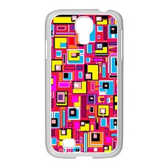 File Digital Disc Red Yellow Rainbow Samsung GALAXY S4 I9500/ I9505 Case (White)