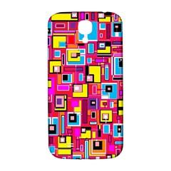 File Digital Disc Red Yellow Rainbow Samsung Galaxy S4 I9500/I9505  Hardshell Back Case