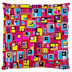 File Digital Disc Red Yellow Rainbow Large Flano Cushion Case (Two Sides)