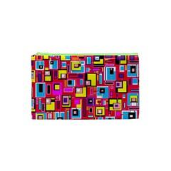 File Digital Disc Red Yellow Rainbow Cosmetic Bag (XS)
