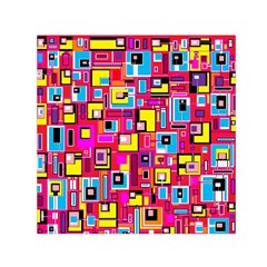 File Digital Disc Red Yellow Rainbow Small Satin Scarf (square)