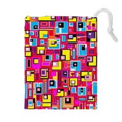 File Digital Disc Red Yellow Rainbow Drawstring Pouches (Extra Large)