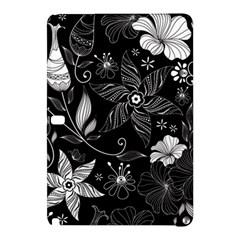 Floral Flower Rose Black Leafe Samsung Galaxy Tab Pro 12.2 Hardshell Case