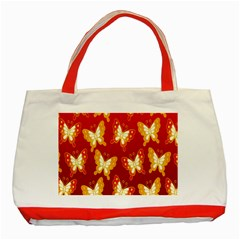 Butterfly Gold Red Yellow Animals Fly Classic Tote Bag (Red)