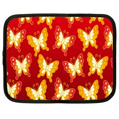 Butterfly Gold Red Yellow Animals Fly Netbook Case (Large)