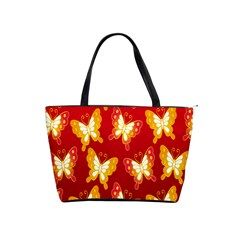 Butterfly Gold Red Yellow Animals Fly Shoulder Handbags
