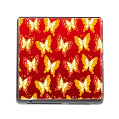 Butterfly Gold Red Yellow Animals Fly Memory Card Reader (Square)