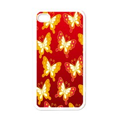 Butterfly Gold Red Yellow Animals Fly Apple iPhone 4 Case (White)
