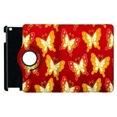 Butterfly Gold Red Yellow Animals Fly Apple Ipad 3/4 Flip 360 Case