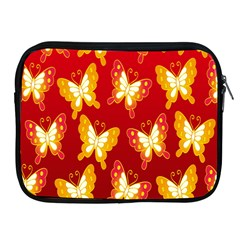 Butterfly Gold Red Yellow Animals Fly Apple iPad 2/3/4 Zipper Cases